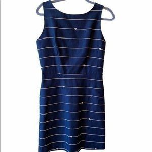 The Limited Nautical Navy A-Line Dress